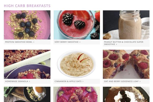 online recipe book breakfasts